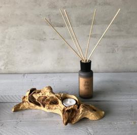 Boomwortel waxinelichthouder- 1 lichtje