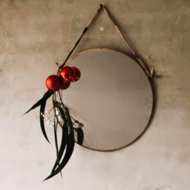 Ronde gouden spiegel - klein/groot