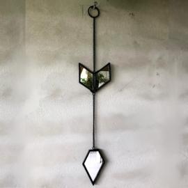 Wanddecoratie pijl zwart