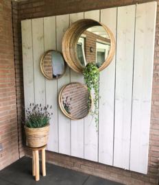 Houten plantenkrukje