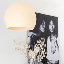 Plafondlamp halve bol- beige