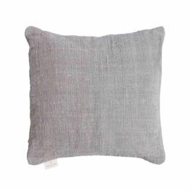 Handgemaakte kussenhoes- grijs 50x50