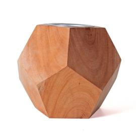 Geometrische kandelaar H9 cm