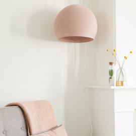 Oud roze hanglamp- halve bol