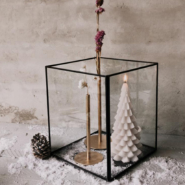 Glazen decoratie kubus- 3 maten