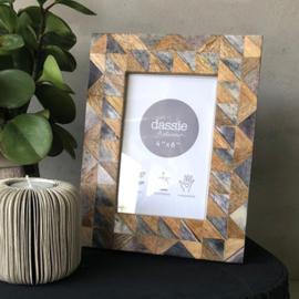 Fotolijst cadeau- marmer met hout