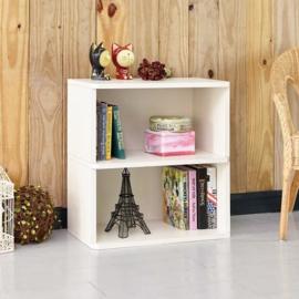 Duurzame witte boekenkast 2 vakken