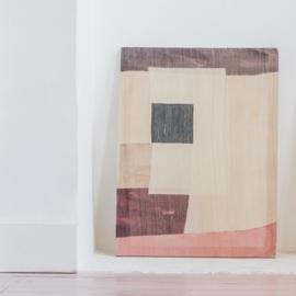 Handgemaakt wanddoek- square