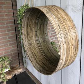 Grote ronde rotan spiegel Ø60