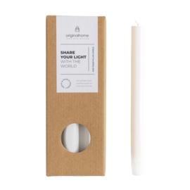 Milieuvriendelijke kaarsen- wit 10st.