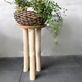 Houten planten krukje