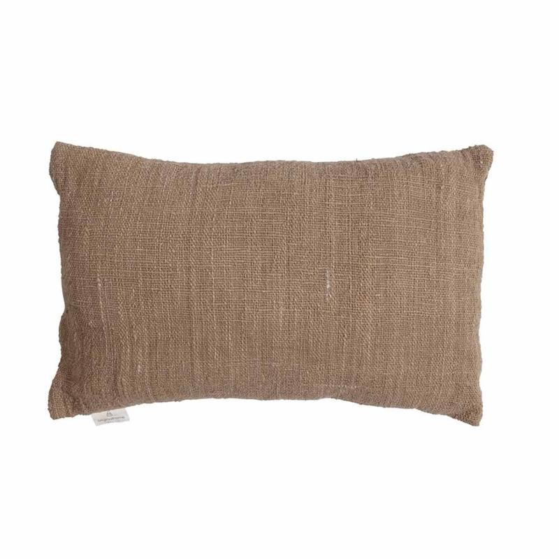 Handgemaakt rechthoekige kussenhoes- licht bruin 40x60