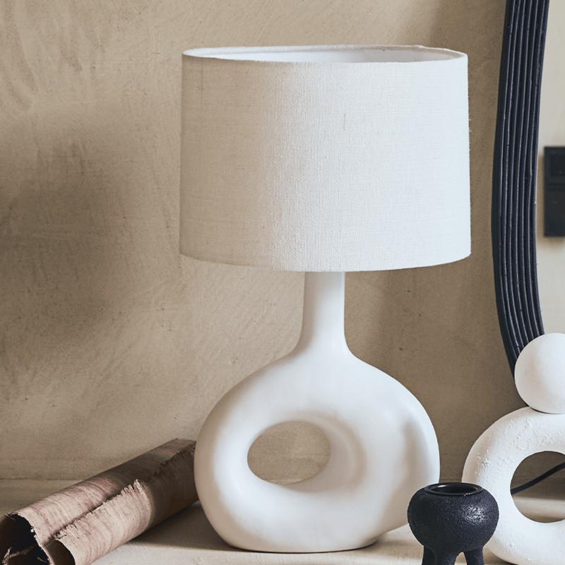Witte design lamp staand