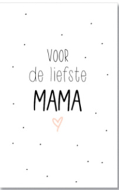 Mini kaart 'voor de liefste mama'
