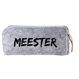 Vilten pennenzak 'Meester'