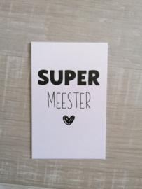 Mini kaartje 'meester'