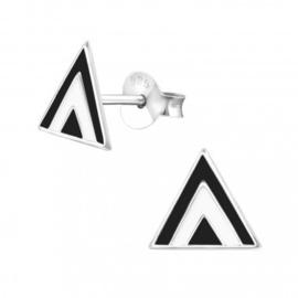Driehoekjes zwart - wit
