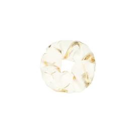 Golden feather - scrunchie