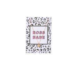 Boss babe - kaart met ketting