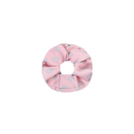 Scrunchie Satin dot - pink