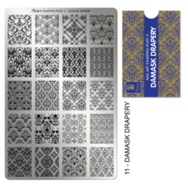 Moyra Stamping plate 11 Damask drapery