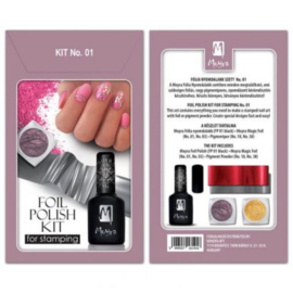 Moyra Foil polish kit for stamping Nr. 01
