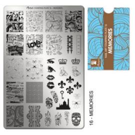 Moyra Stamping plate 16 Memories