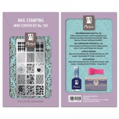 Moyra Mini nail stamping starter kit 104