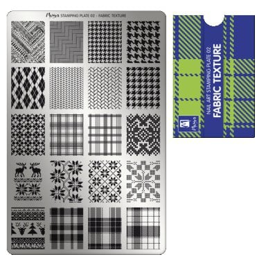 Moyra Stamping plate 02 Fabric texture