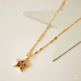 Ketting ''Zircon Star' - Goud