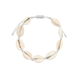 Armband 'Summer Paradise' Zilver&Wit