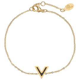 Armband 'V' - Goud