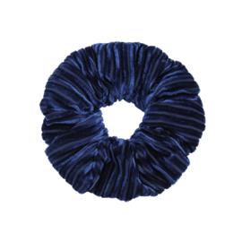 """Scrunchies """" Crushed Velvet """" Blauw"""