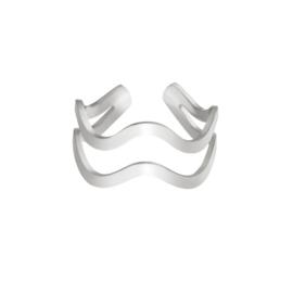 Ring 'Curvy' - Zilver