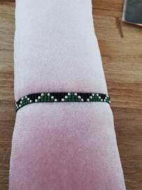Handgemaakt' Subtiel leuk patroon' - Zwart & Groen & Zilver