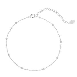 Enkelbandje 'Little beads' - Zilver