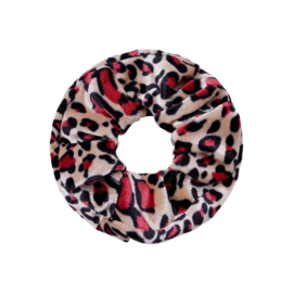 """Scrunchies """" Velvet Animal """" Rood"""
