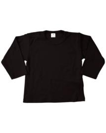 Shirt lange mouw zwart