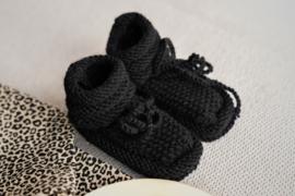 Zwarte baby slofjes