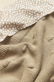 Wiegdeken knots | Taupe