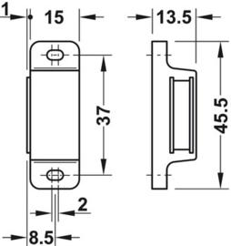 Magneetsluiting / magneetsnapper