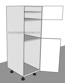 Inbouwkast t.b.v. koelkast 1025 mm en oven 595 mm.