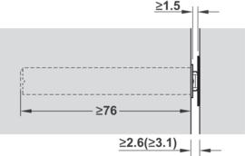 Druksnapper (Tip-On) lange versie met magneet