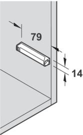 Adapterplaat recht voor lange druksnapper (Tip-On)