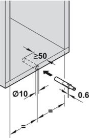 Druksnapper (Tip-On) korte versie met magneet
