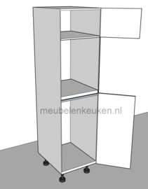Inbouwkast t.b.v. koelkast 1025 mm en combi-magnetron 450 mm GREEPLOOS