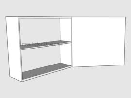 Bovenkast met volle deur en 1 verstelbare legplank GREEPLOOS