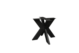 Stalen matrix poot / onderstel 2 delig, koker 10x10 cm, incl. coating.