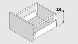 Blum Antaro 228 mm inbouwhoogte