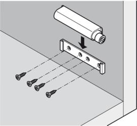 Druksnapper met magnetische vergrendeling